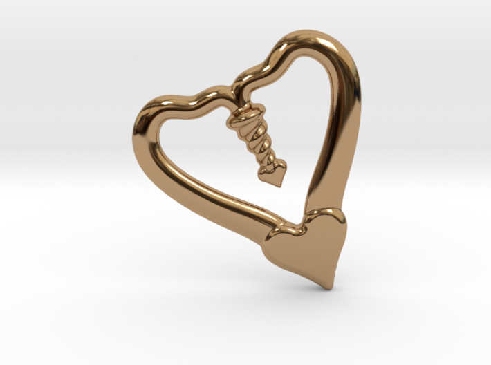 Valentine, 1.5 SCALE 2 Hearts, One Love 3d printed