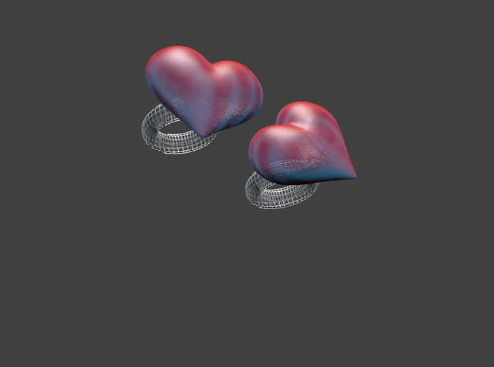Sweetheart Ring 3d printed Lovers' Parties