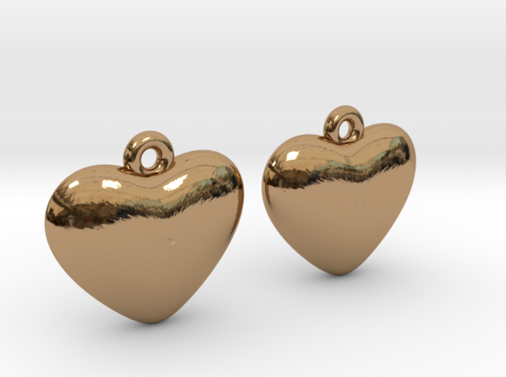 Heart Earrings 3d printed