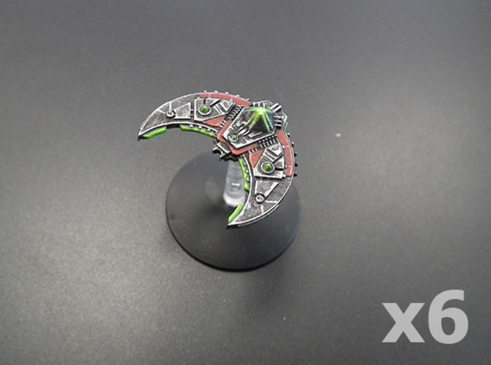 Voidrunner frigate x6 3d printed Frosted Ultra Detail preview.