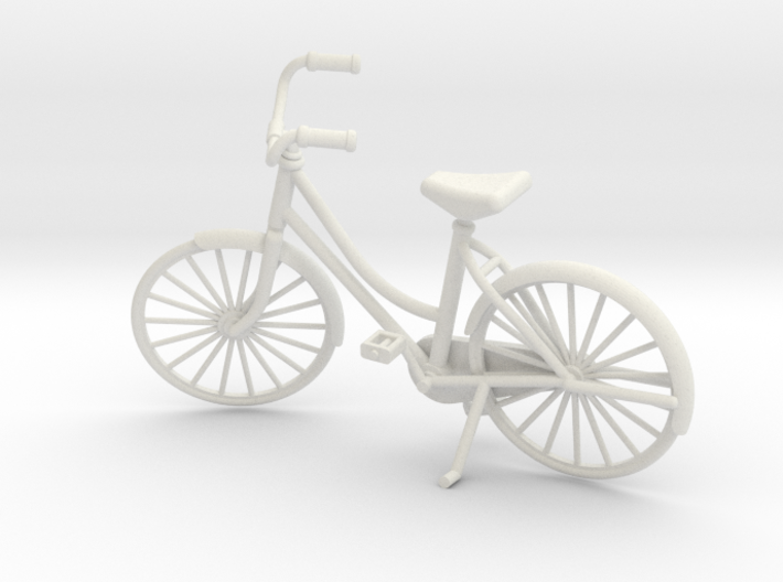 Miniature Vintage Bicycle (1:24) 3d printed