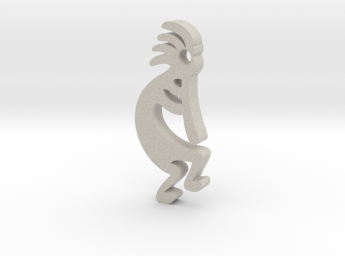 Kokopelli Key Fob 3d printed