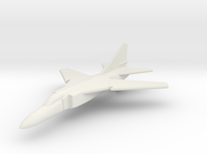 MiG-23FloggerGK with wings at combat sweep 1/285  3d printed