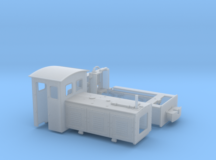 Feldbahnlok LKM Ns3f Spur 0e/0f 1:45 Variante 1 3d printed