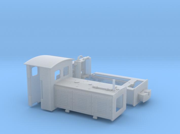 Feldbahnlok LKM Ns3f Spur 0e/0f 1:45 Variante 2 3d printed