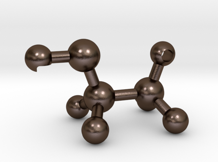 Ethanol Molecule Bottle Opener 3d printed