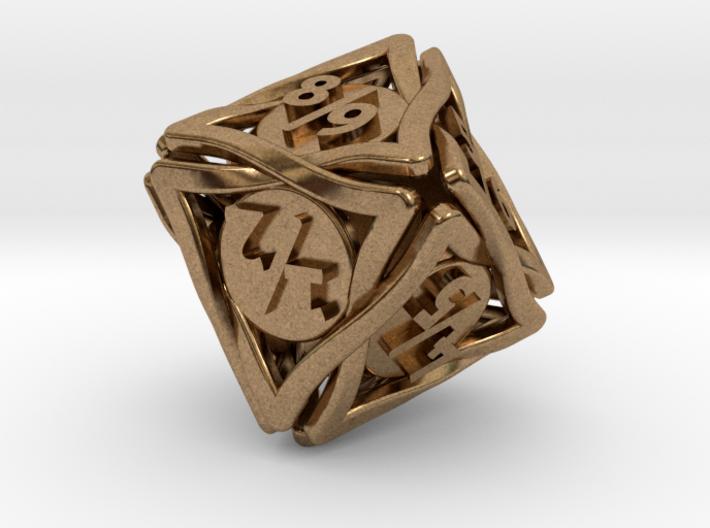 'Twined' Dice D8 Spindown Tarmogoyf P/T Die 3d printed