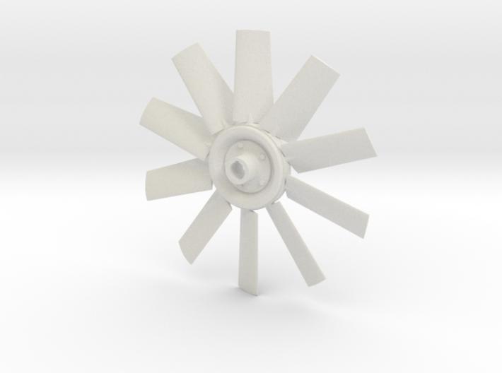 Fan 4.5 for electric motor model 3d printed