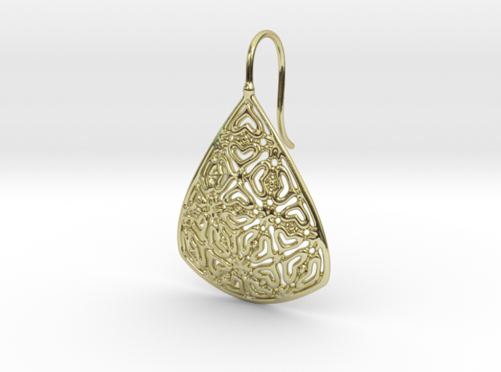 PA Earrings  Ef001Se84U25H25a07 3d printed