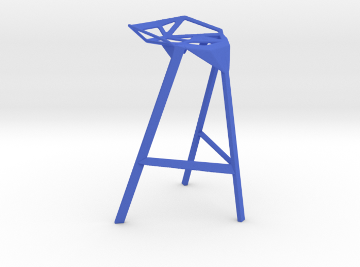 1:12 scale Stool One modern designer chair 3d printed