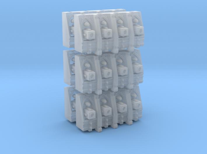 Gothic Spaceship Gun Battery Modules [Pack of 6] 3d printed