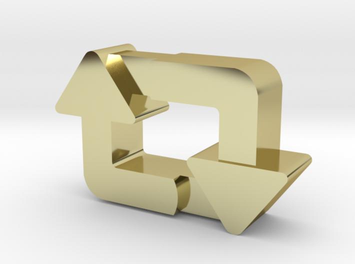 Classy Retweet Pendant 3d printed