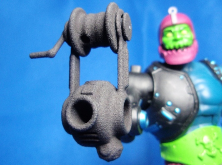 Trap Jaw's Dropper 3d printed Black Strong & Flexible Unpainted.