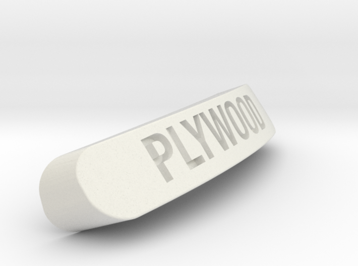 PLYWOOD Nameplate for SteelSeries Rival 3d printed