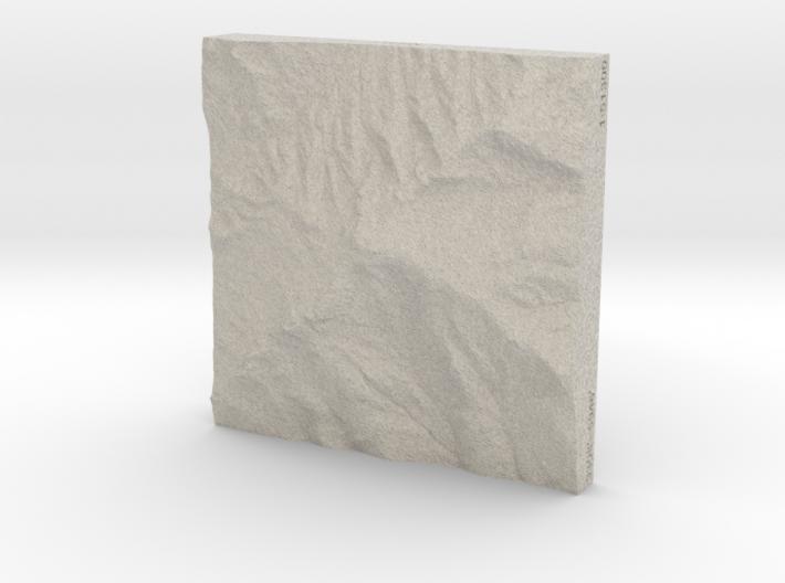 4'' Grandfather Mtn, N. Carolina, USA, Sandstone 3d printed