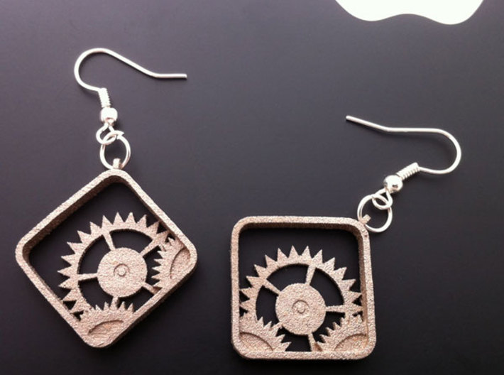 Settings Earrings 3d printed