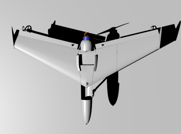 Mach 4 Micro Flying Wing 3d printed Battery cover removed