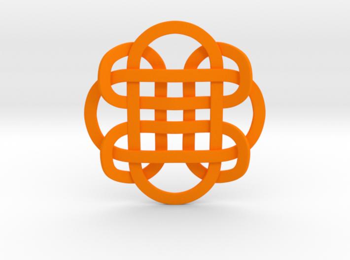 Designer Kolam Pendant 3d printed