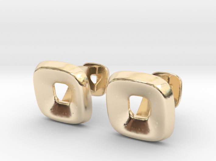 Square Halo Cufflinks 3d printed