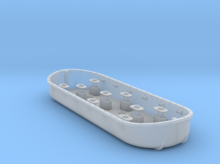 Polyphemus Lift Raft for Deans Marine Hull 3d printed
