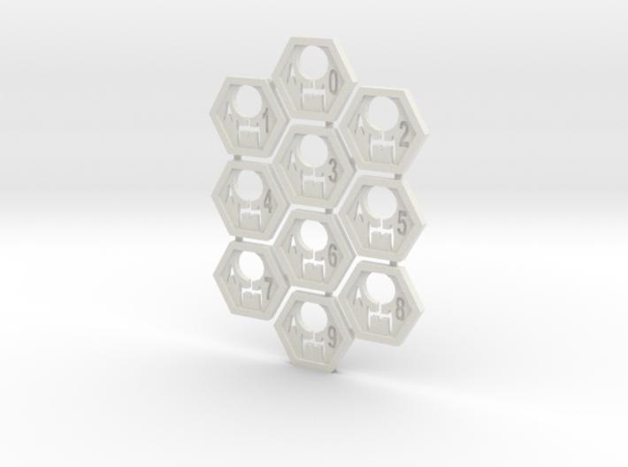 Feddy Hex Tiles 3d printed