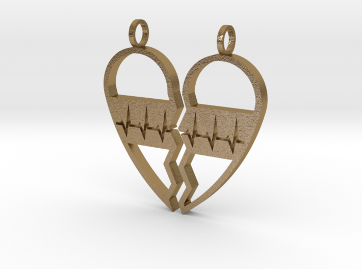 Split Heart Pendant 3d printed