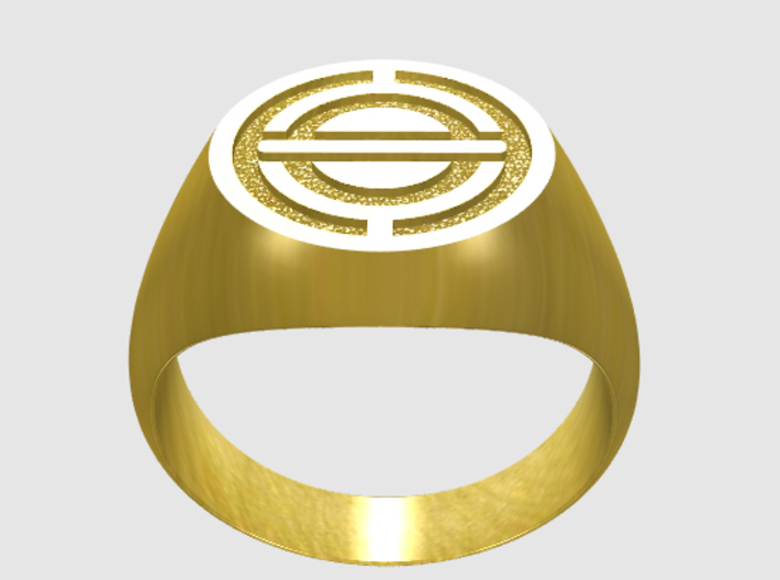 Stylized Spacecraft Ring 3d printed