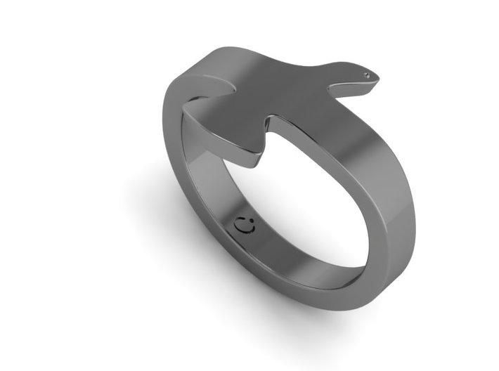Seagull ring  3d printed