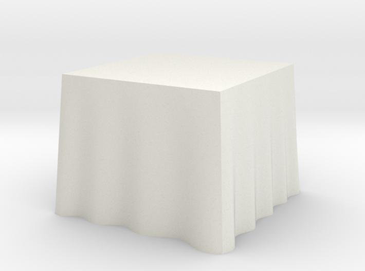 "1:24 Draped Table - 36"" square 3d printed"