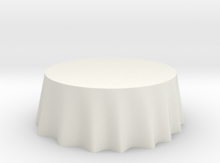 "1:24 Draped Table - 72"" diameter 3d printed"