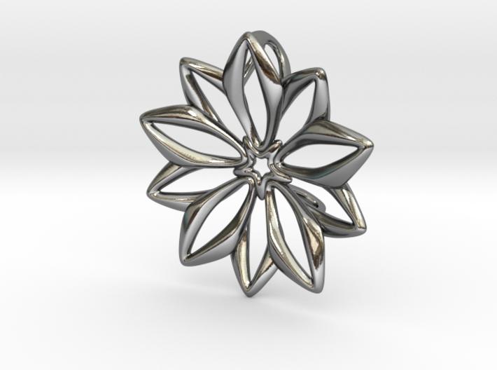 Anemone Pendant 3d printed