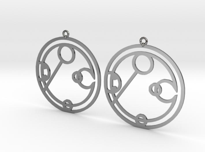 Ebony - Earrings - Series 1 3d printed