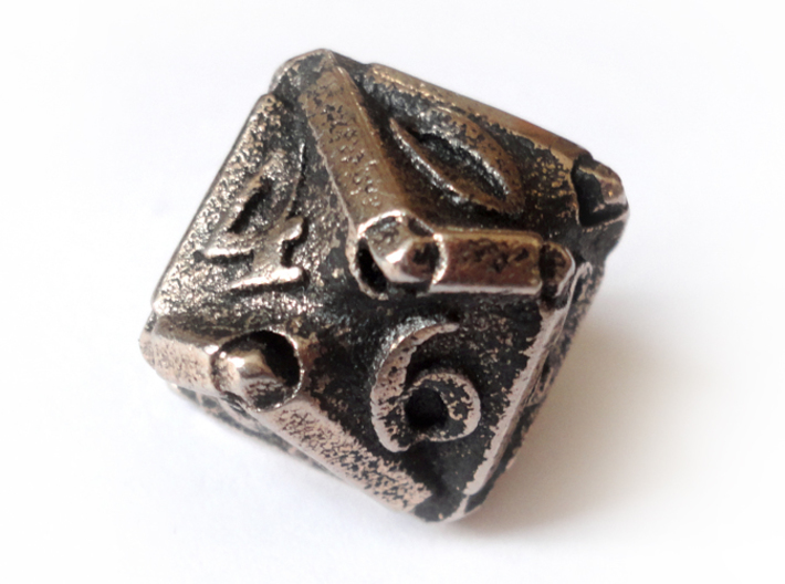 Stretcher d10 3d printed In stainless steel and inked