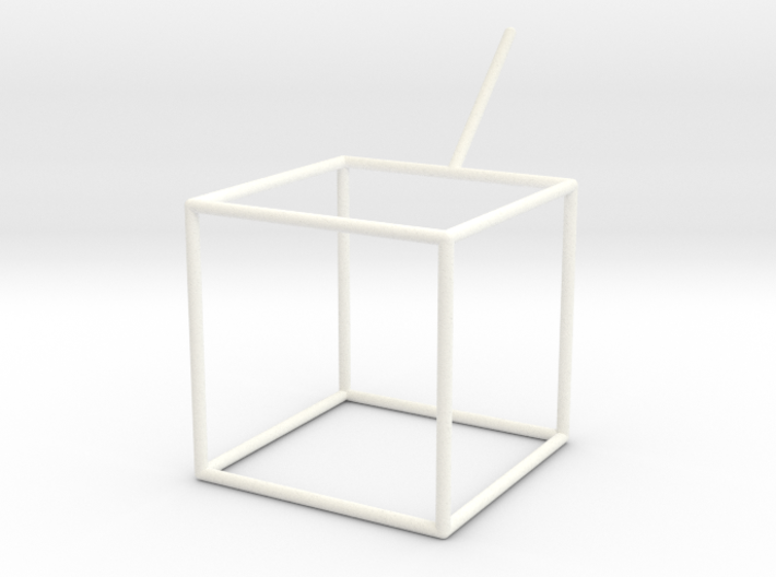 Wire Model for Soap: Cube 3d printed