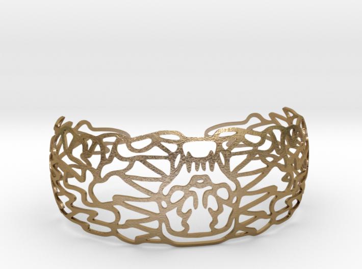 Skullbracelet 3d printed