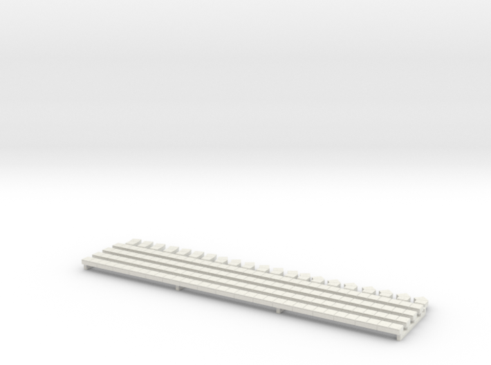 N Scale Concrete Cable Trough 3mm 3d printed