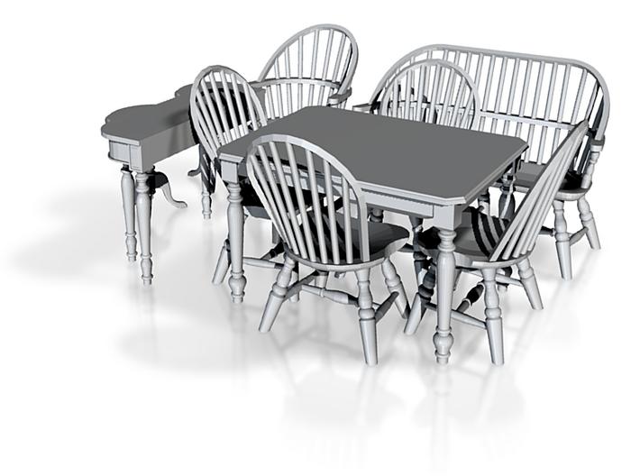 1:48 Windsor Furniture Set 3d printed
