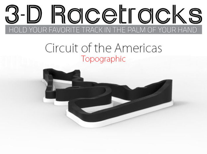 Circuit of the Americas | Topographic Small 3d printed