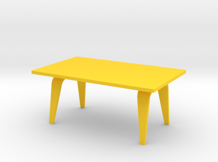 1:12 scale Eames Rectangle Coffee Table 3d printed