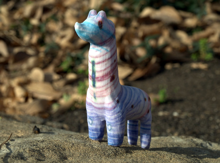 Girafesque Llama 3d printed Figurines from Children's Drawings