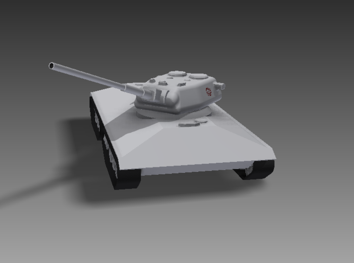 1/100 KVS-2 turret, 150mm cannon 3d printed The KVS-2 in its typical defensive position, taking advantage of maximum armour deflection to protect itself from return fire.