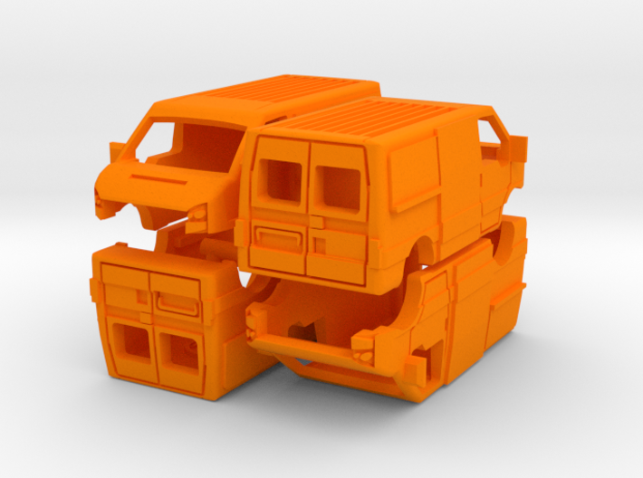 1-160 4x Ford Transit SHELL 3d printed