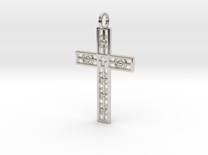 Atomic Cross 3d printed