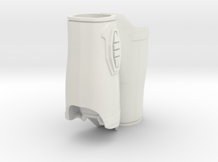 1:6 Scale Armor Forearm wider version 3d printed