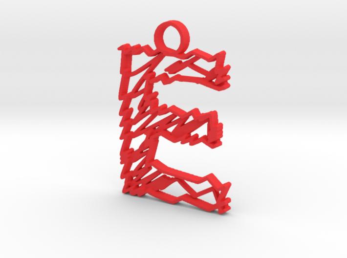 "Sketch ""E"" Pendant 3d printed"