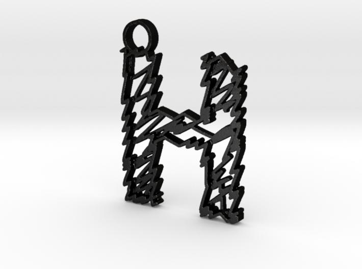 """Sketch """"H"""" Pendant 3d printed"""