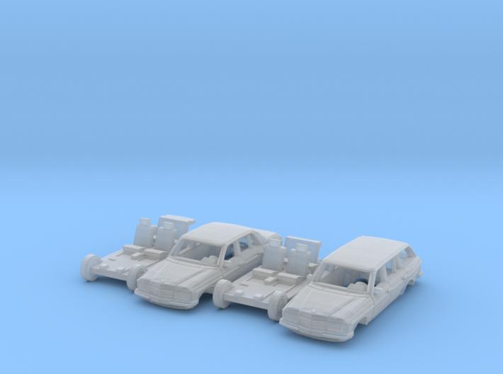SET 2x Mercedes-Benz W123 (TT 1:120) 3d printed