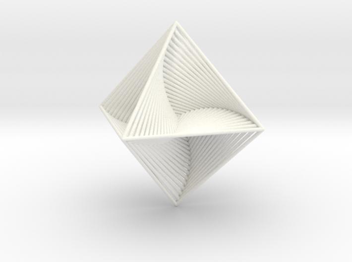 0048 Octahedron Line Design (10 cm) #002 3d printed
