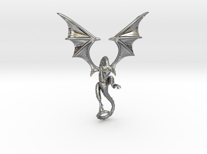 The Wyvern pendant.  3d printed