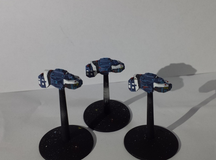 "Somtaaw ""Dervish"" Multi-Beam Frigates (3) 3d printed A squadron of 3 painted Dervishes."
